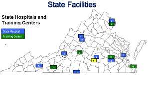 State Facilities Map